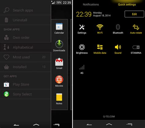black apk install experia theme blurry black for android 4 3 devices