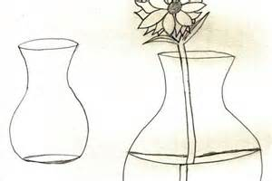 Drawing Picture Flower Vase by How To Draw Roses In A Vase Www Imgkid The Image Kid Has It