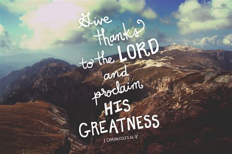 cute wallpaper bible verses give thanks to the lord and proclaim his greatness let