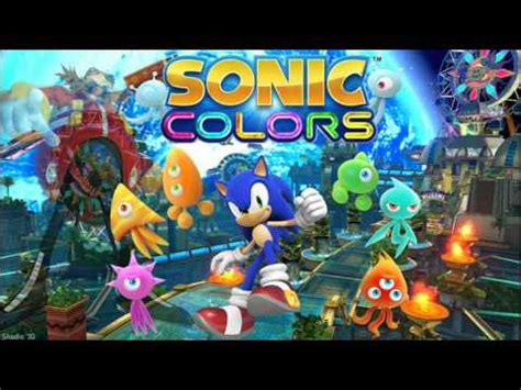song titles with colors sonic colors quot title theme quot