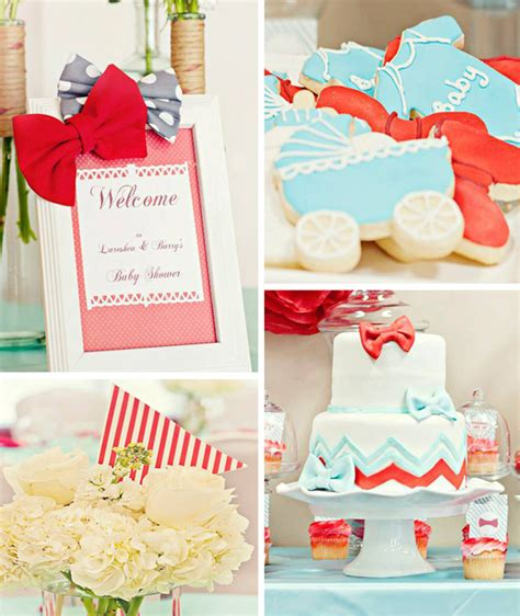 Bow Tie Baby Shower Decorations by Baby Shower Planning Favors Ideas