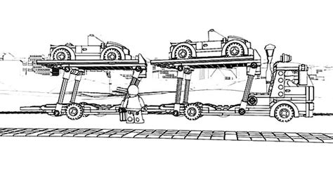 car carrier coloring page car transporter coloring pages for kids car transporter