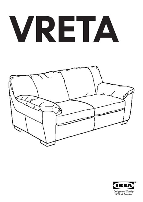 Ikea Vreta Sofa Bed Vreta Sofa Bed Mjuk Black Ikea United States Ikeapedia