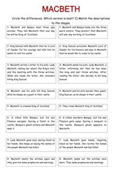 macbeth themes worksheet macbeth sequence with pictures doc shakespeare