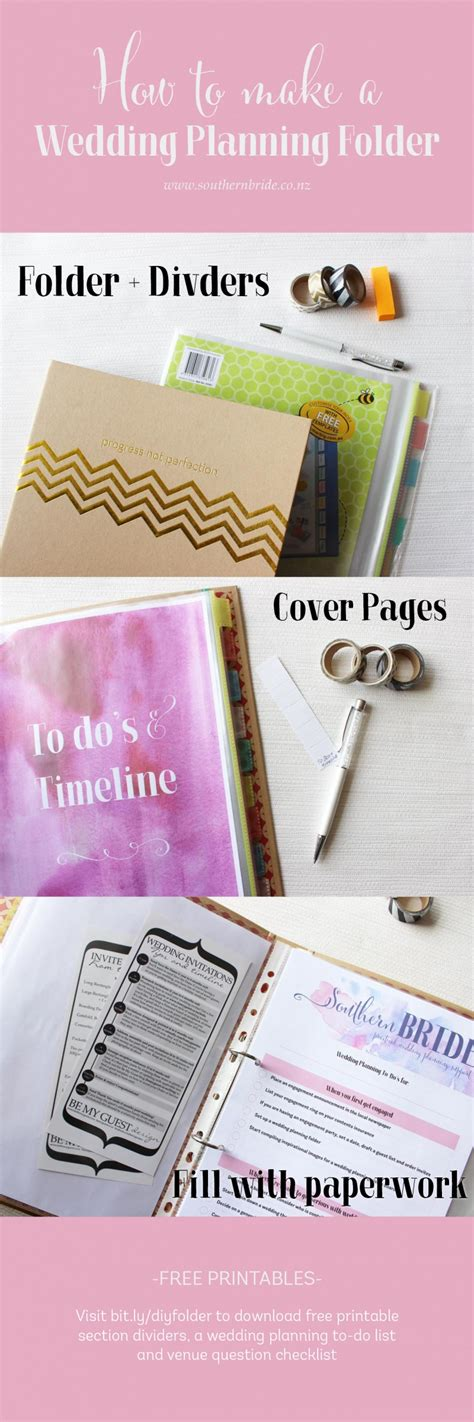 printable wedding planner nz make your own wedding planning folder southern bride