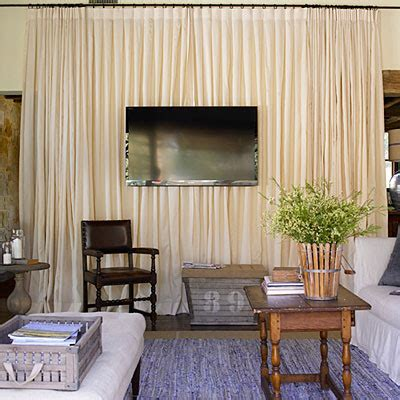 curtains behind tv a house as big as texas michaela noelle designs