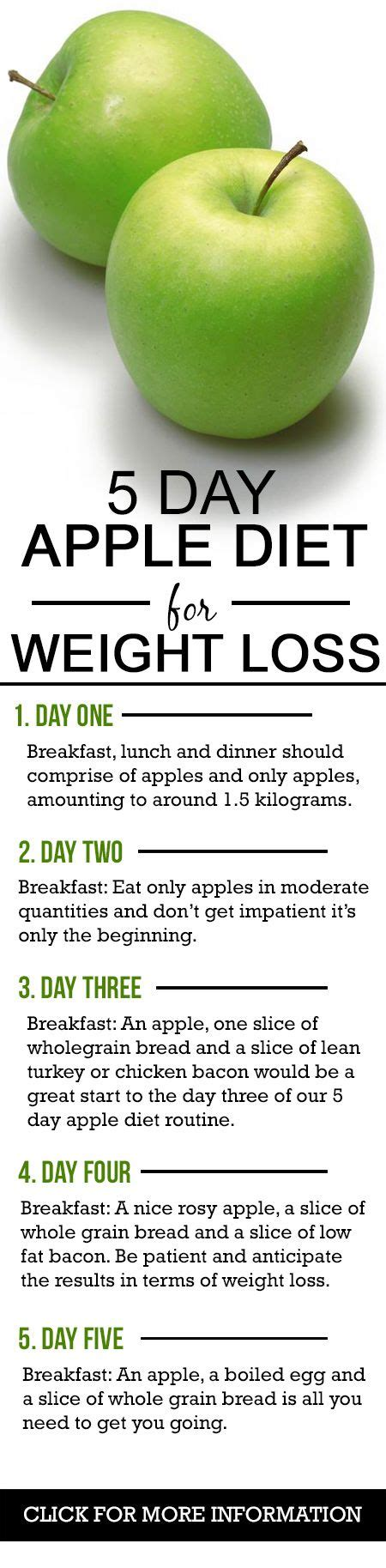 Apple Diet | 5 day apple diet for weight loss pinterest best diets