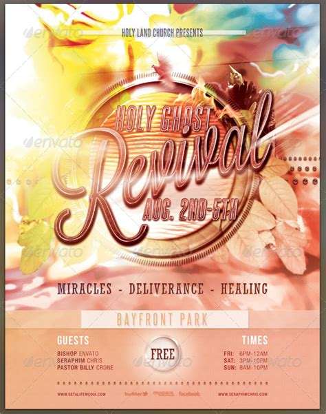church revival flyer template free pastor s appreciation church free flyer psd template