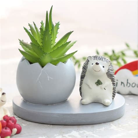 Cute Flower Pots Animal Flowerpot Cute Resin Flower Pot Planter Garden
