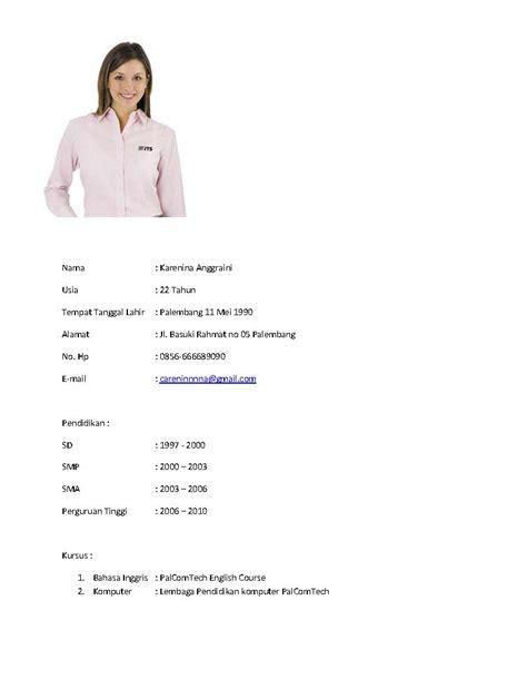 contoh biodata diri yang lengkap fontoh contoh biodata diri yang lengkap hontoh