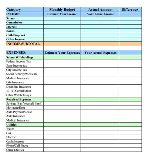 sle budget template sle budget template 28 images sle budget template 28