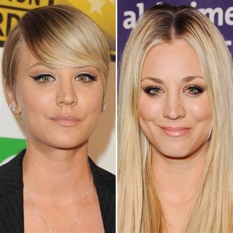 how does kaley cucco style her hair why did kaley cuoco cut her hair is it for the bbt show