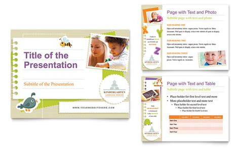 powerpoint design kindergarten kindergarten powerpoint presentation template design