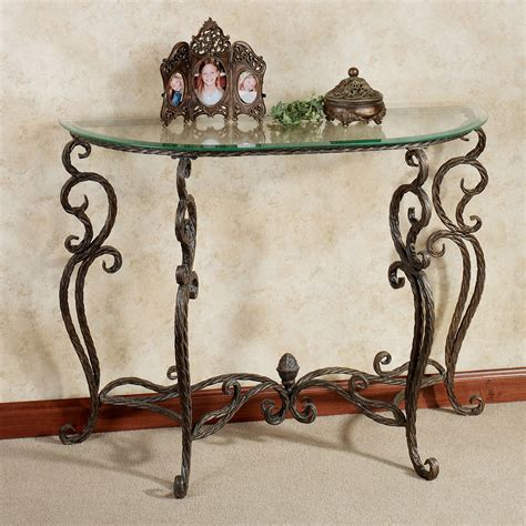 glass and metal sofa table anacapri metal and glass console table