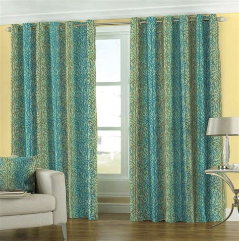 blue green drapes blue and green window curtains home design ideas
