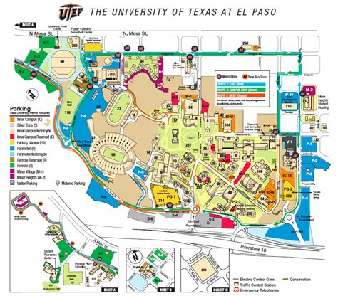 utep map building directory utep visitor s guide