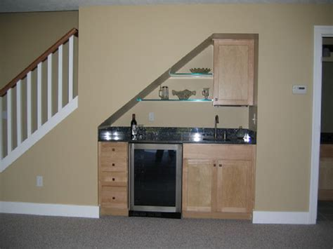 small stair bar for basement home bar