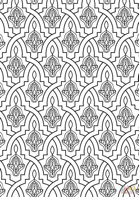 pattern art coloring pages moroccan tile coloring page free printable coloring pages