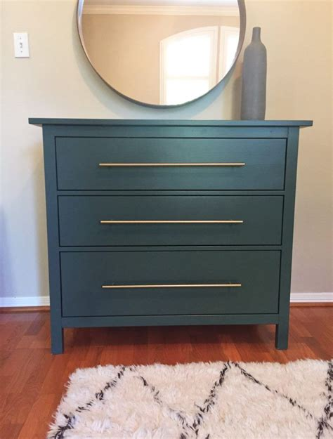Hemnes Nightstand Hack Ikea Hack Forest Green Hemnes Dresser With Brass Pulls