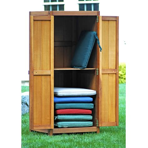 storage cabinet brookbend cedar patio furniture