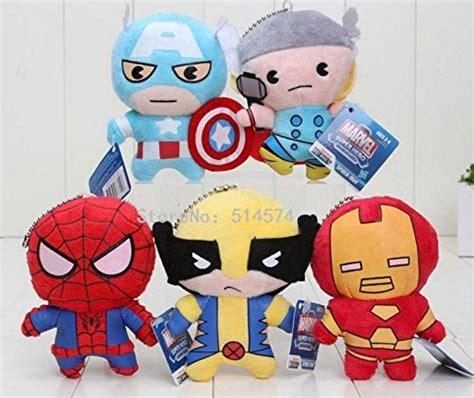 Boneka Avenger Thor 5pcs set 11cm the heroes plush toys thor spider captain america iron plush do
