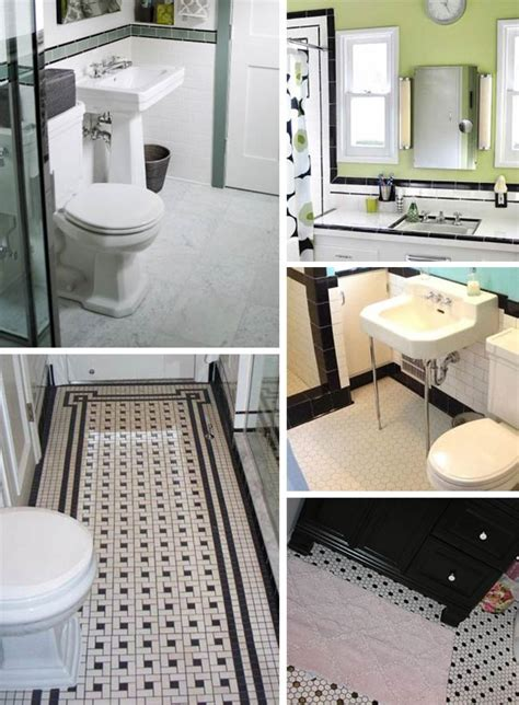 bathroom tiles black and white ideas black and white tile bathrooms done 6 different ways