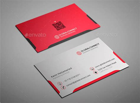 business card layout template simple and clean business card design template design
