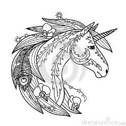 ornamental unicorn stock vector image 59061642