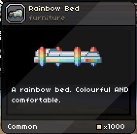 starbound bed rainbow bed starbound wiki