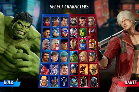 all marvel infinity characters marvel vs capcom infinite character roster