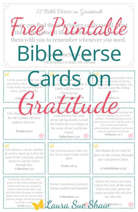 Bible Memory Verse Card Template by Free Printable Bible Verse Cards On Gratitude Scriptures