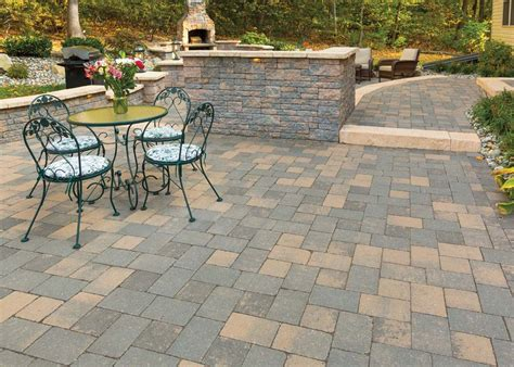 Cobblestone Patio Pavers Ep Henry Imperial Paver Rustic Cobble Chestnut Imperial Rustic Wall Chestnu Center