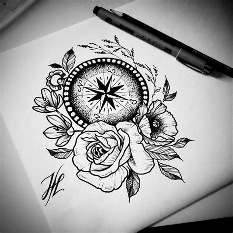 compass tattoo take me home awesome flowers and compass tattoo design