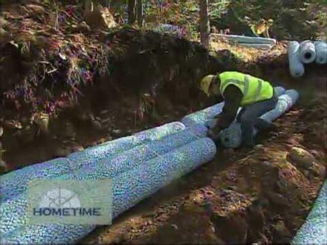 gravel  drain field  septic system youtube