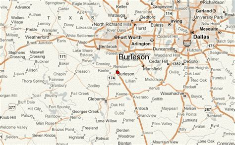 map of burleson texas gu 237 a urbano de burleson