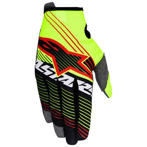 Gm Supercross Tracker Yellowfluo gants cross alpinestars radar tracker 2017 fx motors
