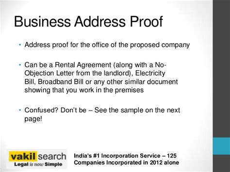 Search Company Address Documents Needed For Company Incorporation