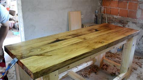 making  solid oak top wooden workbench youtube