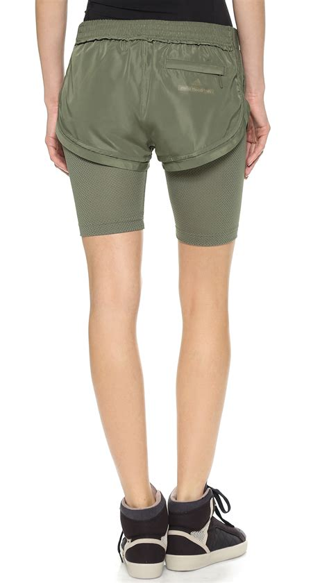Adidas Stella Mc Cartney Running Shorts 1 adidas by stella mccartney running shorts loam in green lyst
