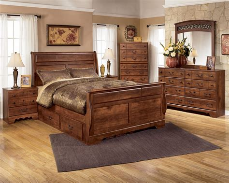 bedroom in a box queen complete bedroom set in a box mission oak storage bedroom