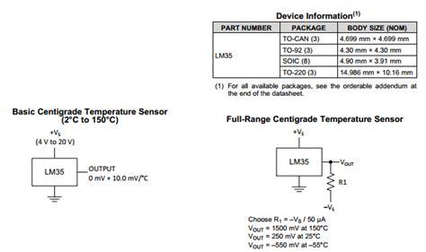 transistor lm35 lm35 datasheet pdf lm35dz temperature sensors