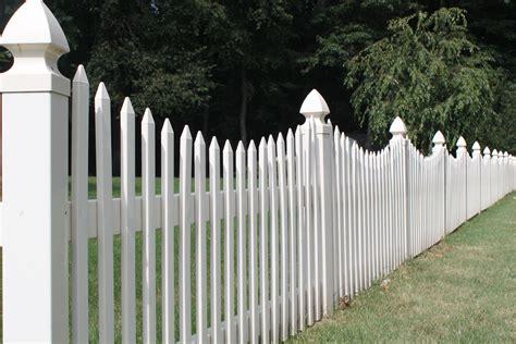 cottage picket fence picket fence vinyl fence in a dozen picket styles