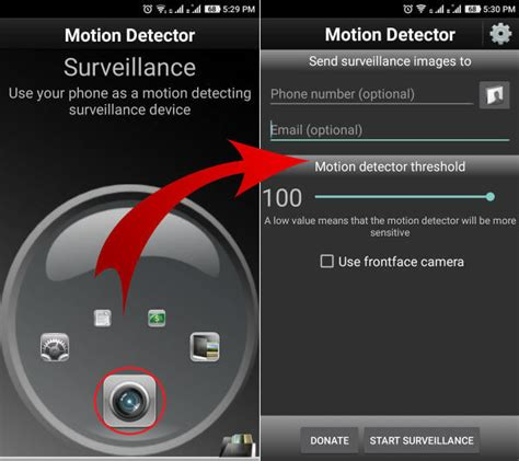android motion how to convert your android to a motion detector 187 technical tips