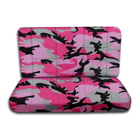 pink camo bench seat covers pink camouflage bench seat covers camo rear car seat cover