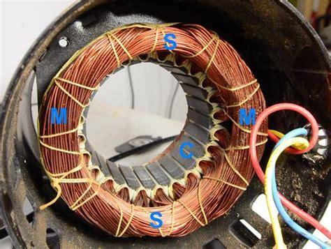 induction motor winding reversing single phase induction motors