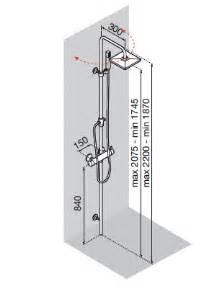 colonne de aqua3 easy sur pied thermostatique