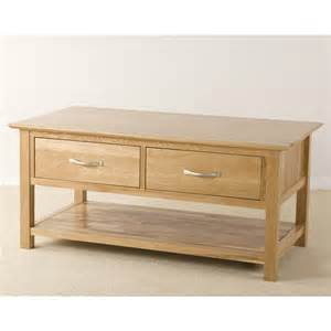 Oak Coffee Tables With Drawers Ashton Oak Coffee Table With Drawers Quarter Solid