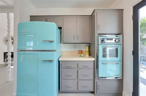 turquoise kitchen appliances santa cruz turquoise appliances midcentury kitchen