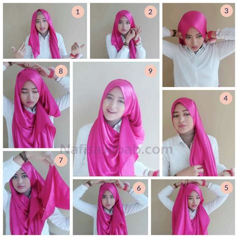 tutorial hijab pashmina satin formal tutorial hijab wisuda simple terbaru tips wajib dicoba