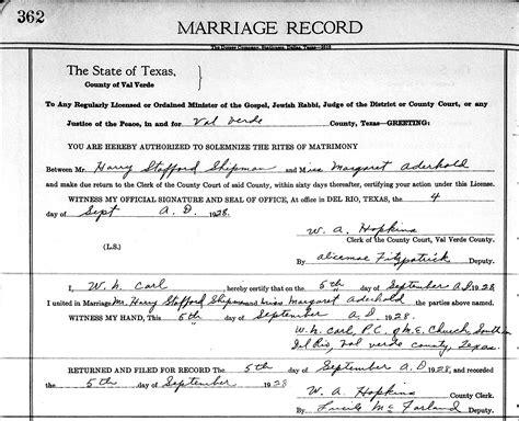 Galveston Marriage Records Dan Robert